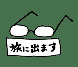Heartwarming businessman with glasses sticker #7039349