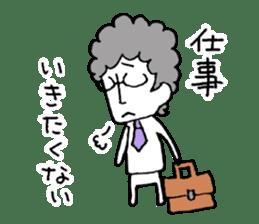 Heartwarming businessman with glasses sticker #7039351