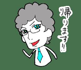 Heartwarming businessman with glasses sticker #7039353