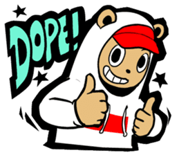 G.Reezy the Dope Bear (featuring Bunni) sticker #7040171