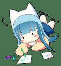 Chibi Neko Rinnae [ENG] sticker #7040481