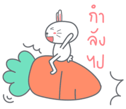 Bunny is Happy ver.2 sticker #7042003