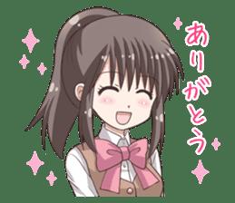 School uniform girl ! sticker #7042651