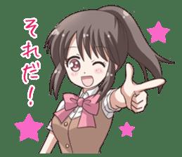 School uniform girl ! sticker #7042657