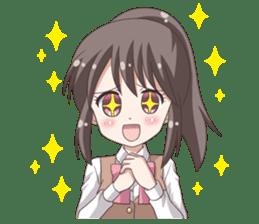 School uniform girl ! sticker #7042658