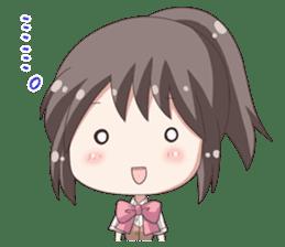 School uniform girl ! sticker #7042660
