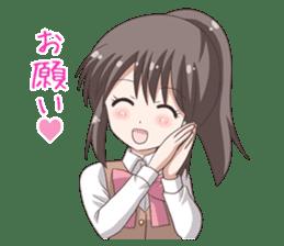 School uniform girl ! sticker #7042670