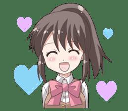 School uniform girl ! sticker #7042679