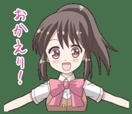 School uniform girl ! sticker #7042684