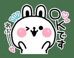 Reply stamp of rabbit sticker #7043372