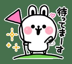 Reply stamp of rabbit sticker #7043381