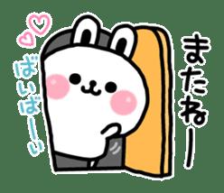 Reply stamp of rabbit sticker #7043384