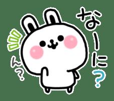Reply stamp of rabbit sticker #7043388
