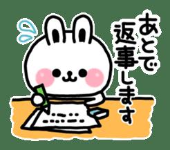 Reply stamp of rabbit sticker #7043405