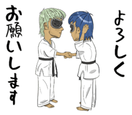Masked Karate Daily conversation sticker #7046091