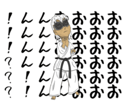 Masked Karate Daily conversation sticker #7046119