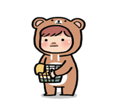 pendyo & bearnini sticker #7046259