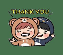 pendyo & bearnini sticker #7046268