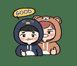 pendyo & bearnini sticker #7046269