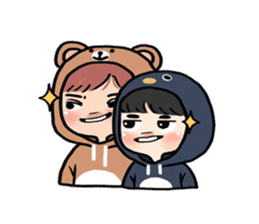 pendyo & bearnini sticker #7046270