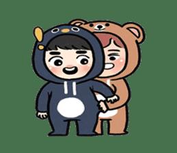 pendyo & bearnini sticker #7046272