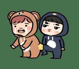 pendyo & bearnini sticker #7046273