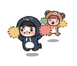 pendyo & bearnini sticker #7046276