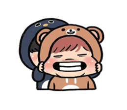 pendyo & bearnini sticker #7046282