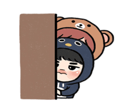 pendyo & bearnini sticker #7046283