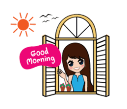 Lady Cute sticker #7049079