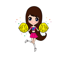Lady Cute sticker #7049083