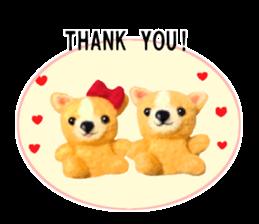 Pretty stuffed toy.  English sticker #7053816