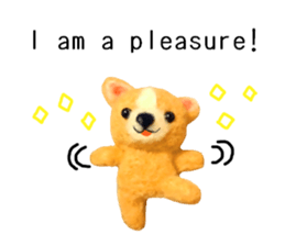 Pretty stuffed toy.  English sticker #7053824