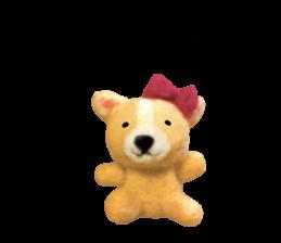 Pretty stuffed toy.  English sticker #7053831
