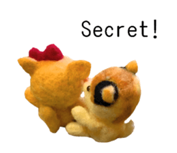 Pretty stuffed toy.  English sticker #7053844