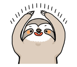 Sloth & Hamster sticker #7055305