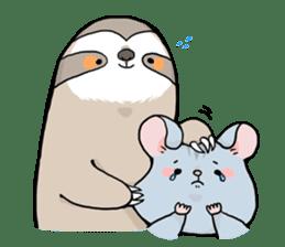 Sloth & Hamster sticker #7055320