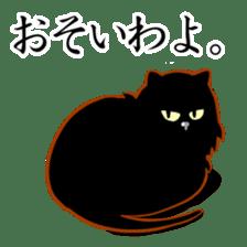 Black cat's Proverbs sticker #7055461