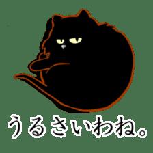 Black cat's Proverbs sticker #7055462