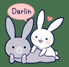 Lovey-dovey rabbit 2 (English) sticker #7056009