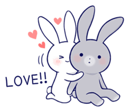 Lovey-dovey rabbit 2 (English) sticker #7056010