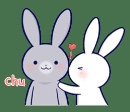 Lovey-dovey rabbit 2 (English) sticker #7056012