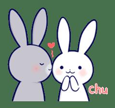 Lovey-dovey rabbit 2 (English) sticker #7056013