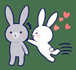 Lovey-dovey rabbit 2 (English) sticker #7056014