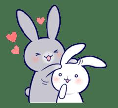 Lovey-dovey rabbit 2 (English) sticker #7056015