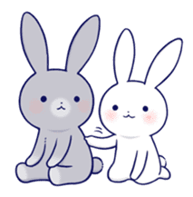 Lovey-dovey rabbit 2 (English) sticker #7056018