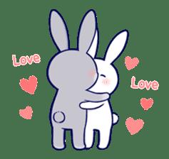 Lovey-dovey rabbit 2 (English) sticker #7056019