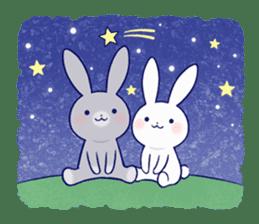 Lovey-dovey rabbit 2 (English) sticker #7056020