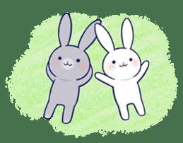 Lovey-dovey rabbit 2 (English) sticker #7056021
