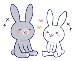 Lovey-dovey rabbit 2 (English) sticker #7056022